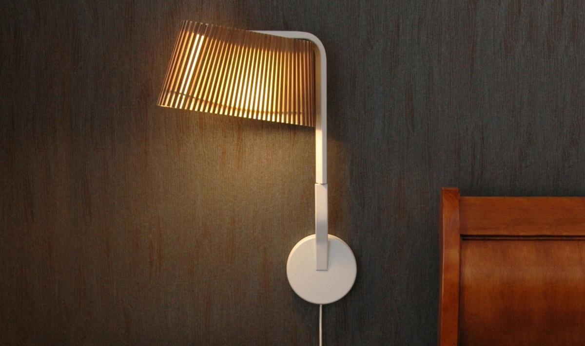 Vägglampan Owalo 7030 i sovrum