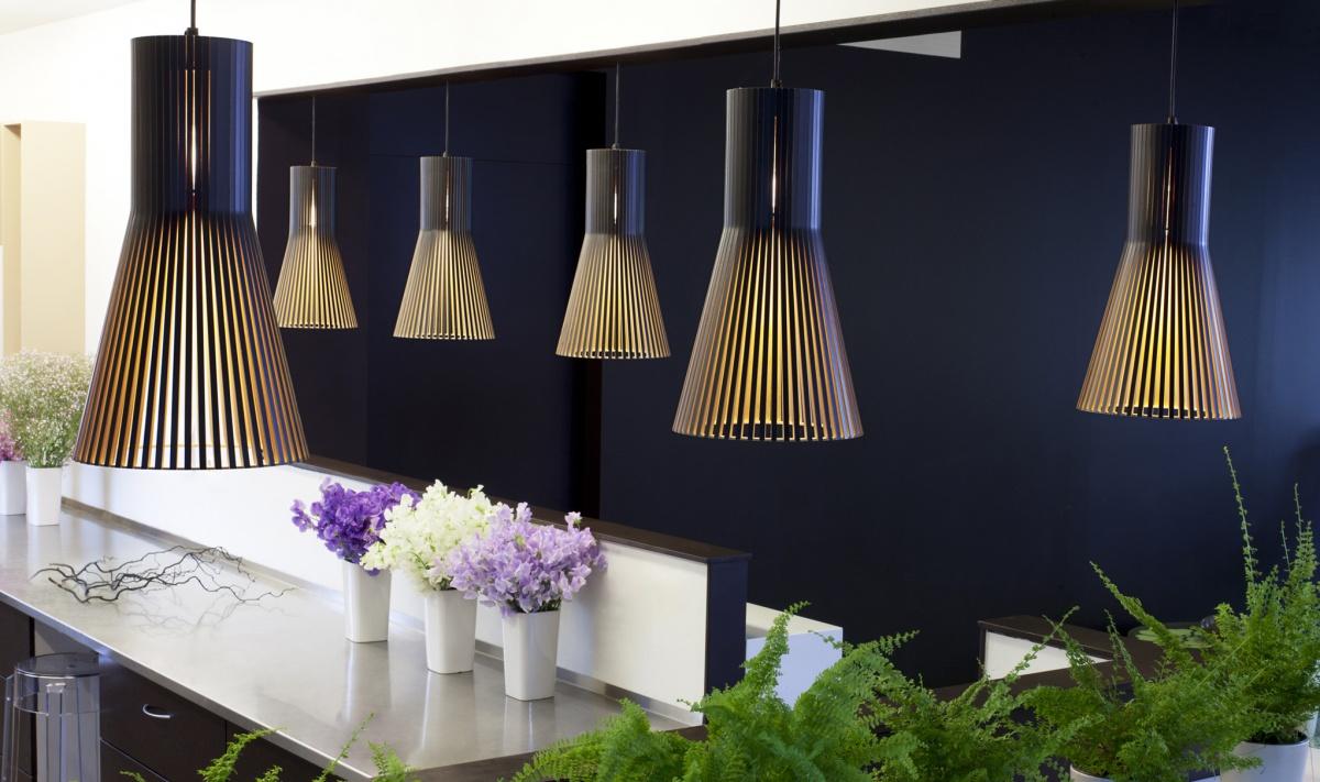 Secto 4201 taklampa i en blomsteraffär
