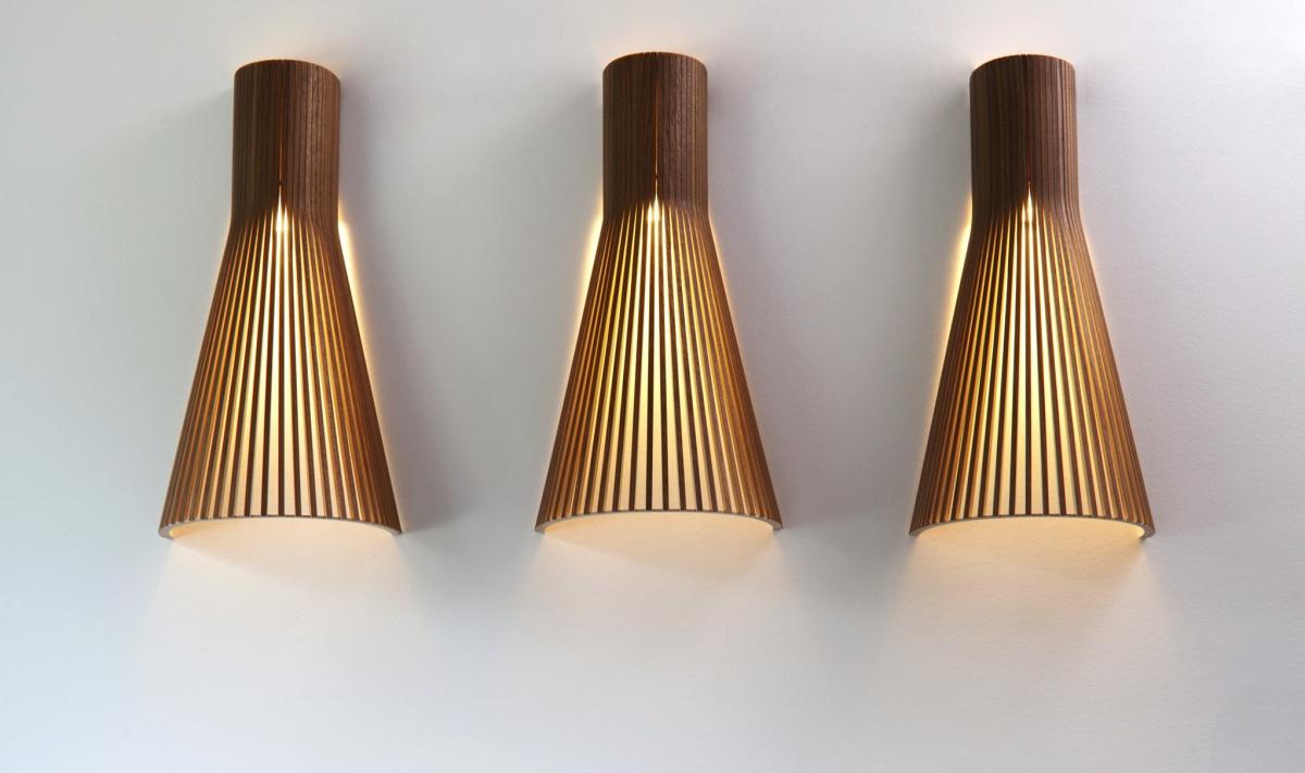 Vägglampa Secto 4230 i hemmiljö